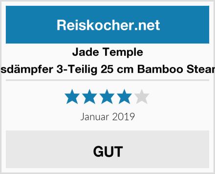 Jade Temple Bambusdämpfer 3-Teilig 25 cm Bamboo Steamer Set Test