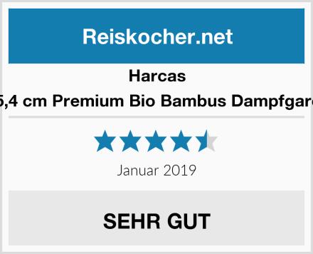 Harcas 25,4 cm Premium Bio Bambus Dampfgarer Test