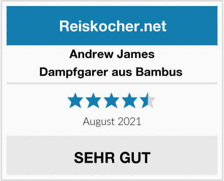 Andrew James Dampfgarer aus Bambus  Test