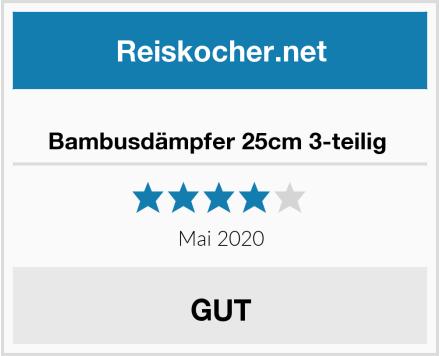 No Name Bambusdämpfer 25cm 3-teilig  Test