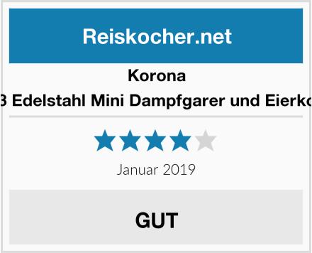 Korona 25303 Edelstahl Mini Dampfgarer und Eierkocher Test