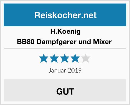 H.Koenig BB80 Dampfgarer und Mixer  Test