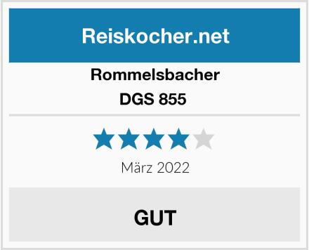 Rommelsbacher DGS 855  Test