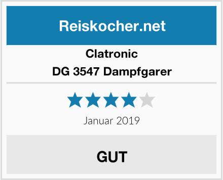 Clatronic DG 3547 Dampfgarer Test
