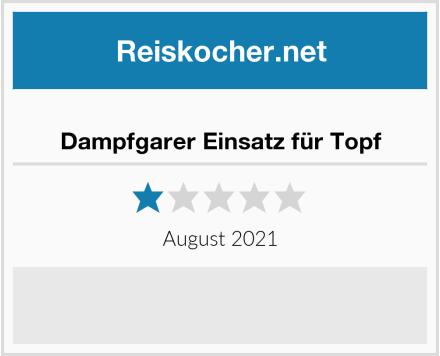 No Name Dampfgarer Einsatz für Topf Test