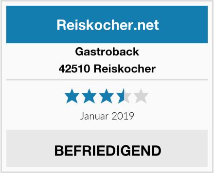 Gastroback 42510 Reiskocher Test