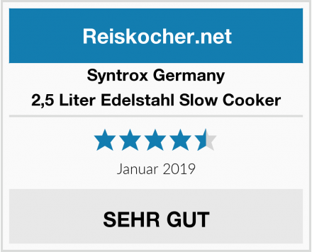 Syntrox Germany 2,5 Liter Edelstahl Slow Cooker Test