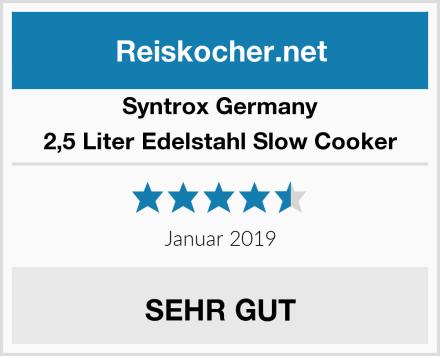 Syntrox Germany 2,5 Liter Edelstahl Slow Cooker Test