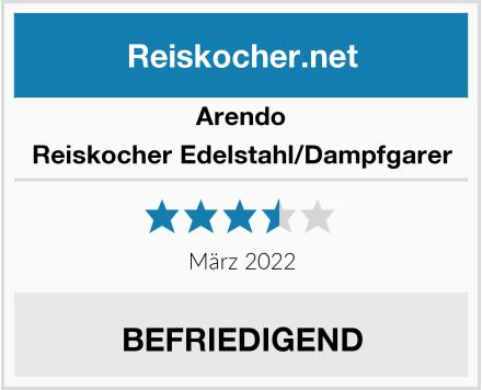Arendo Reiskocher Edelstahl/Dampfgarer Test