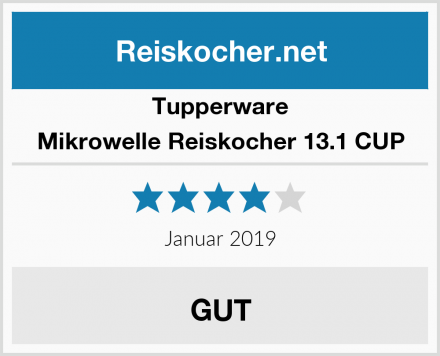 Tupperware Mikrowelle Reiskocher 13.1 CUP Test