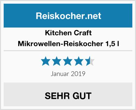 Kitchen Craft Mikrowellen-Reiskocher 1,5 l Test