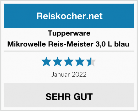 Tupperware Mikrowelle Reis-Meister 3,0 L blau  Test