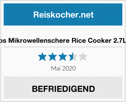 No Name Snips Mikrowellenschere Rice Cooker 2.7L rot Test