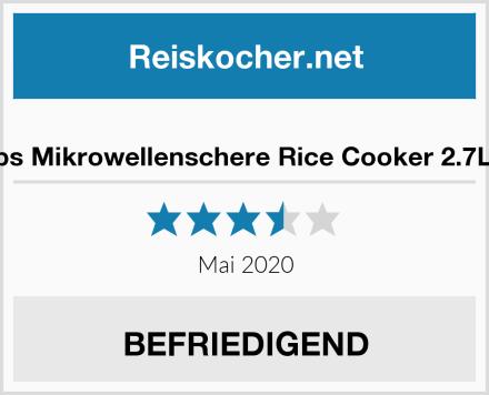 Snips Mikrowellenschere Rice Cooker 2.7L rot Test