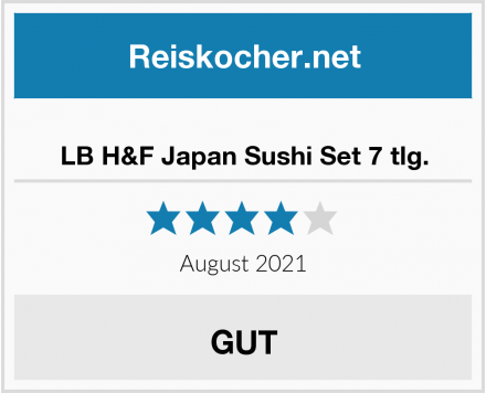 LB H&F Japan Sushi Set 7 tlg. Test