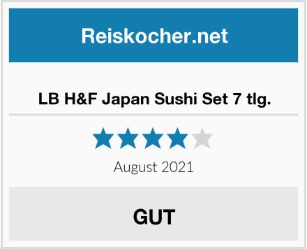 No Name LB H&F Japan Sushi Set 7 tlg. Test