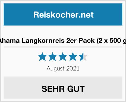 Ahama Langkornreis 2er Pack (2 x 500 g) Test