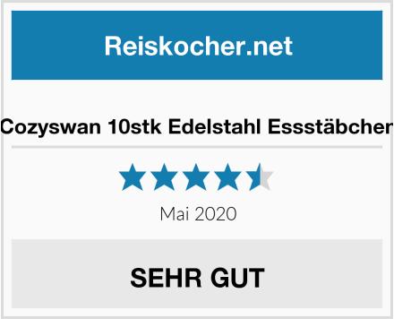 Cozyswan 10stk Edelstahl Essstäbchen Test