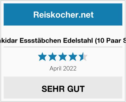 Makidar Essstäbchen Edelstahl (10 Paar Set) Test