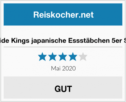 Pride Kings japanische Essstäbchen 5er Set Test