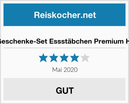 Sushi Geschenke-Set Essstäbchen Premium Holz Set Test