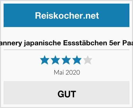 Gerhannery japanische Essstäbchen 5er Paar Set Test