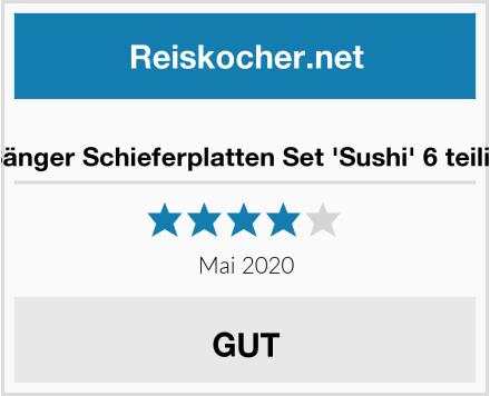 Sänger Schieferplatten Set 'Sushi' 6 teilig Test