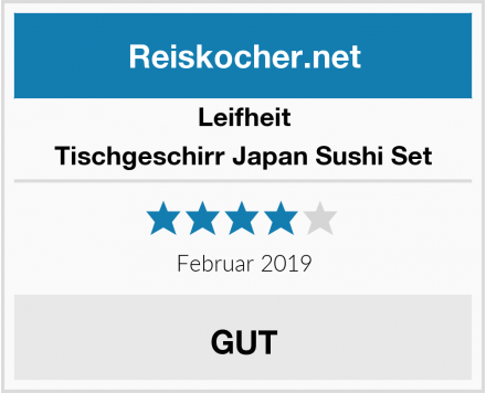 Leifheit Tischgeschirr Japan Sushi Set Test