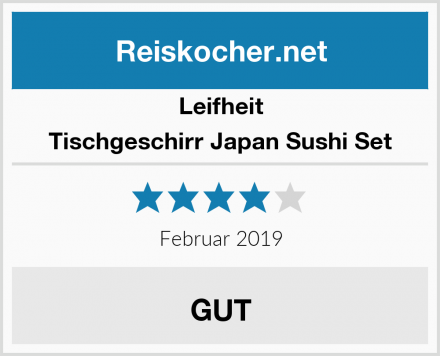 Leifheit Tischgeschirr Japan Sushi Set Test