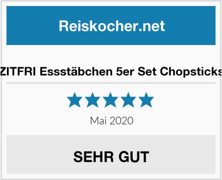 ZITFRI Essstäbchen 5er Set Chopsticks Test