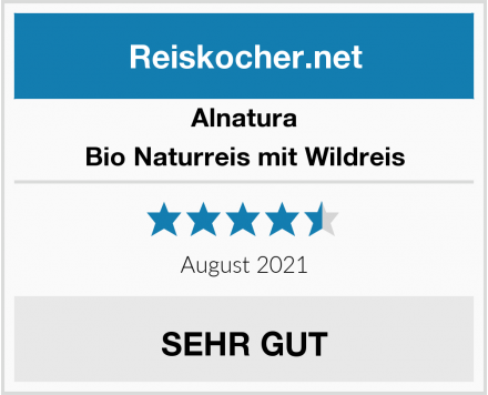 Alnatura Bio Naturreis mit Wildreis Test