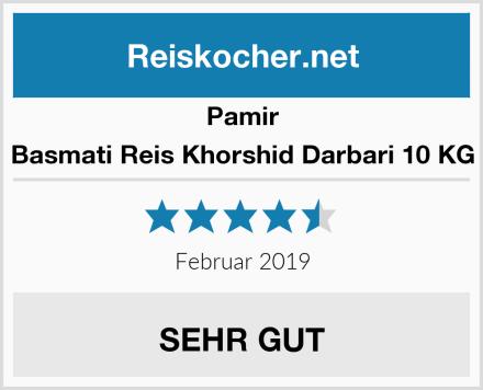 Pamir Basmati Reis Khorshid Darbari 10 KG Test