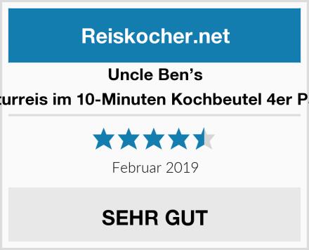 Uncle Ben's Naturreis im 10-Minuten Kochbeutel 4er Pack Test