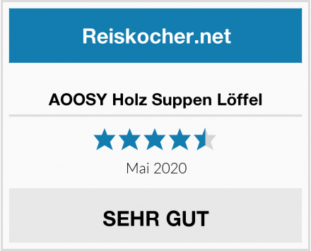 AOOSY Holz Suppen Löffel Test
