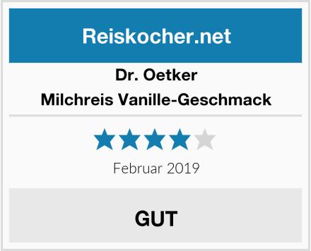 Dr. Oetker Milchreis Vanille-Geschmack Test