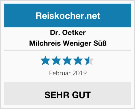 Dr. Oetker Milchreis Weniger Süß Test
