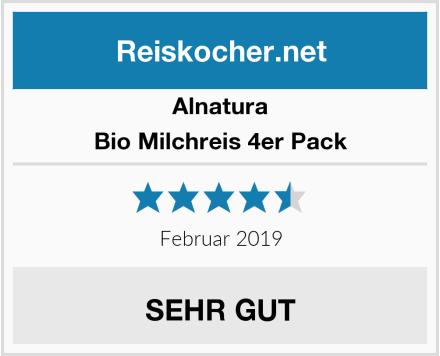 Alnatura Bio Milchreis 4er Pack Test