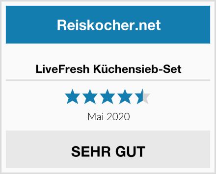 LiveFresh Küchensieb-Set Test