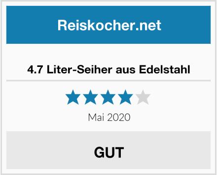 4.7 Liter-Seiher aus Edelstahl Test