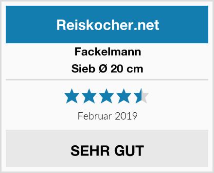 FACKELMANN Sieb Ø 20 cm Test