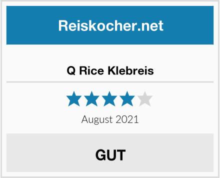 No Name Q Rice Klebreis Test