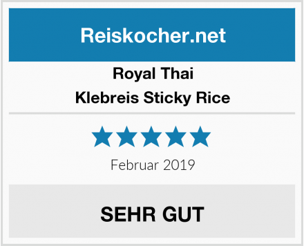 Royal Thai Klebreis Sticky Rice Test
