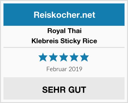 Royal Thai Klebreis Sticky Rice Test