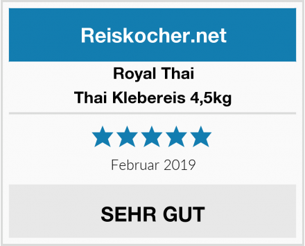 Royal Thai Thai Klebereis 4,5kg Test