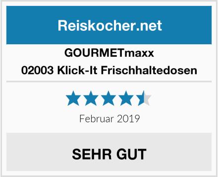 GOURMETmaxx 02003 Klick-It Frischhaltedosen Test