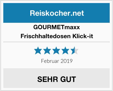 GOURMETmaxx Frischhaltedosen Klick-it Test