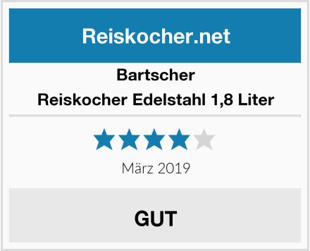Bartscher Reiskocher Edelstahl 1,8 Liter Test
