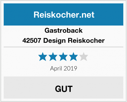 Gastroback 42507 Design Reiskocher Test