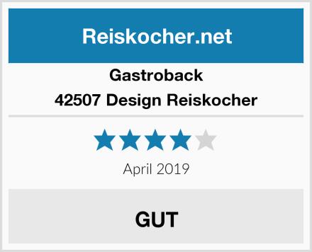 Gastroback 42507 Design Reiskocher Test
