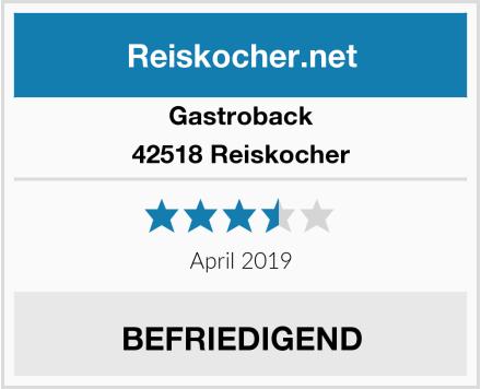 Gastroback 42518 Reiskocher Test